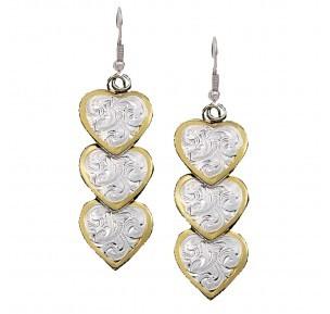 Montana Silversmith ER151 Montana 3 Heart Dangle Earrings