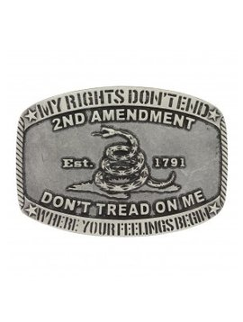 Montana Silversmith A701 Montana Second Amendment Rights Buckle