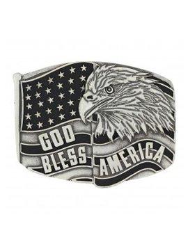 Montana Silversmith A635 Montana God Bless America Eagle Buckle