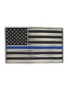 Montana Silversmith A644TBL Montana Thin Blue Line Flag Buckle