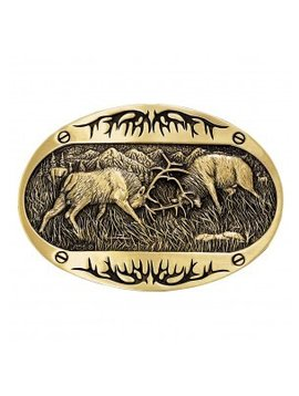 Montana Silversmith 60800C Montana Fighting Elk Buckle