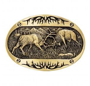 Montana Silversmith 60800C Montana Fighting Elk Buckle