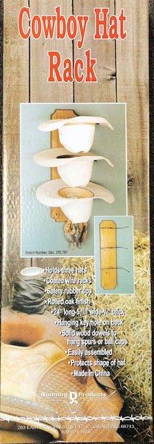 Running D Cowboy Hat Rack 51848WRS