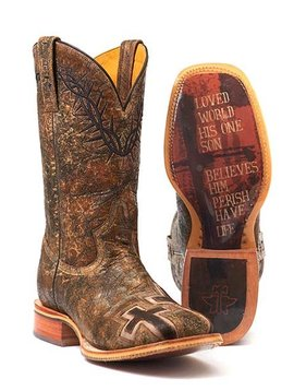 "Tin Haul 14-020-0007-0301BR  Men's ""John 3:16"" Boot"