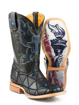 "Tin Haul 14-020-0007-0353BL    Men's ""Black N' Blue"" Boot"