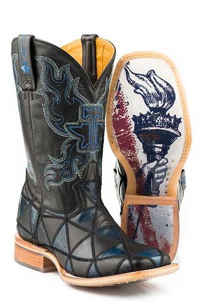 "Tin Haul 14-020-0007-0353BL   Men's ""Black N' Blue"" Boot"