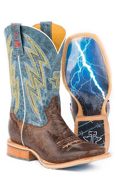 """Tin Haul 14-020-0007-0329BR   Men's """"Spiky Wire"""" Boot"""
