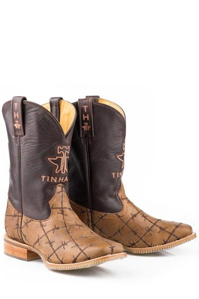 "Tin Haul 14-020-0007-0081BR Men's ""Don't Fence Me In"" Boot"