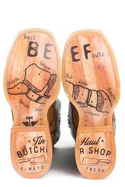 "Tin Haul 14-020-0007-0334BR  Men's  ""Hairy Metal"" Boot"