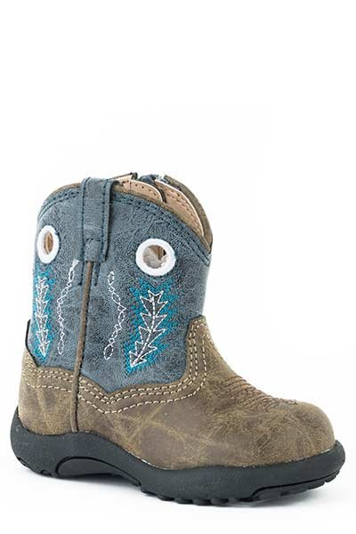 "Roper 09-016-1222-2001BU  Infant ""Hole In The Wall"" Cowbabies Boot"
