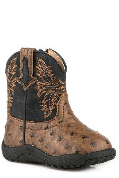 """Roper 09-016-1224-2003BR  Infant """"Cowboy Cool"""" Cowbabies Boot"""