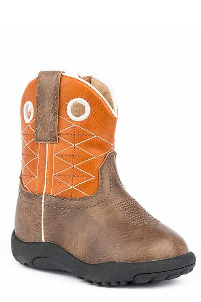 "Roper 09-016-1224-2202BR  Infant ""Boone"" Cowbabies  Boot"