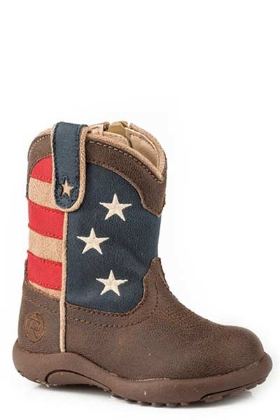 "Roper 09-016-1902-0380BR Infant ""American Patriot""Cowbabies Boot"