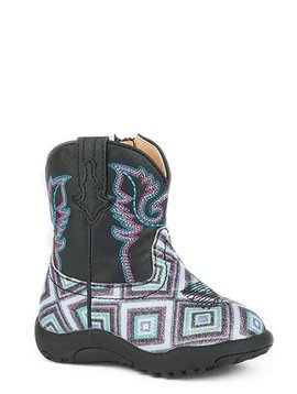 "Roper 09-016-1901-1523BL Infant ""Glitter Diamonds"" Cowbabies Boot"