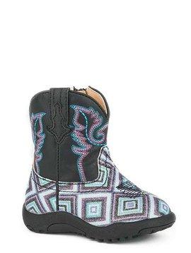 "Roper 09-016-1901-1523BL Infant ""Glitter Diamonds"" Cowbabies Boot"