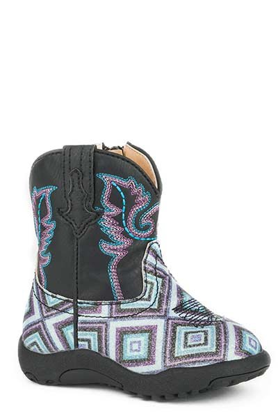"Roper 09-016-1901-1523BL  Infant ""Glitter Diamonds"" Cowbabies Boots"