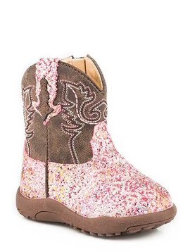"Roper 09-016-1225-2062PI  Infants ""Glitter Aztec"" Cowbabies Boot"