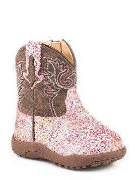 """Roper 09-016-1225-2062PI  Infants """"Glitter Aztec"""" Cowbabies Boot"""