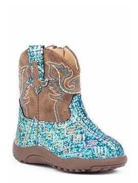 "Roper 09-016-1225-2063BU  Infant ""Glitter Aztec"" Cowbabies Boot"