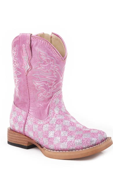 """Roper """"Glitter Check"""" Pink  09-017-1901-0028PI"""