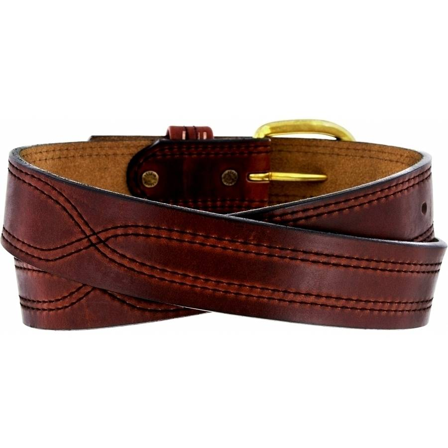 Leegin X Stitching Oiltan Belt 00556