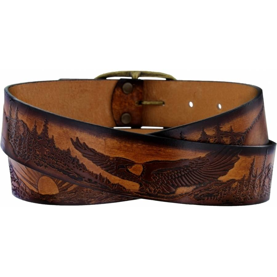 Leegin Eagle and Sun Etching Belt 30604