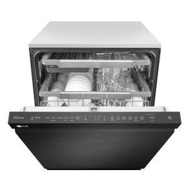 LG Electronics LG Matte Black Stainless Steel Top Control Dishwasher with QuadWash™ and EasyRack™ Plus