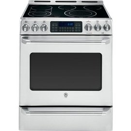 "General Electric GE Café™ Series 30"" Slide-In Front Control Convection Range with Baking Drawer"