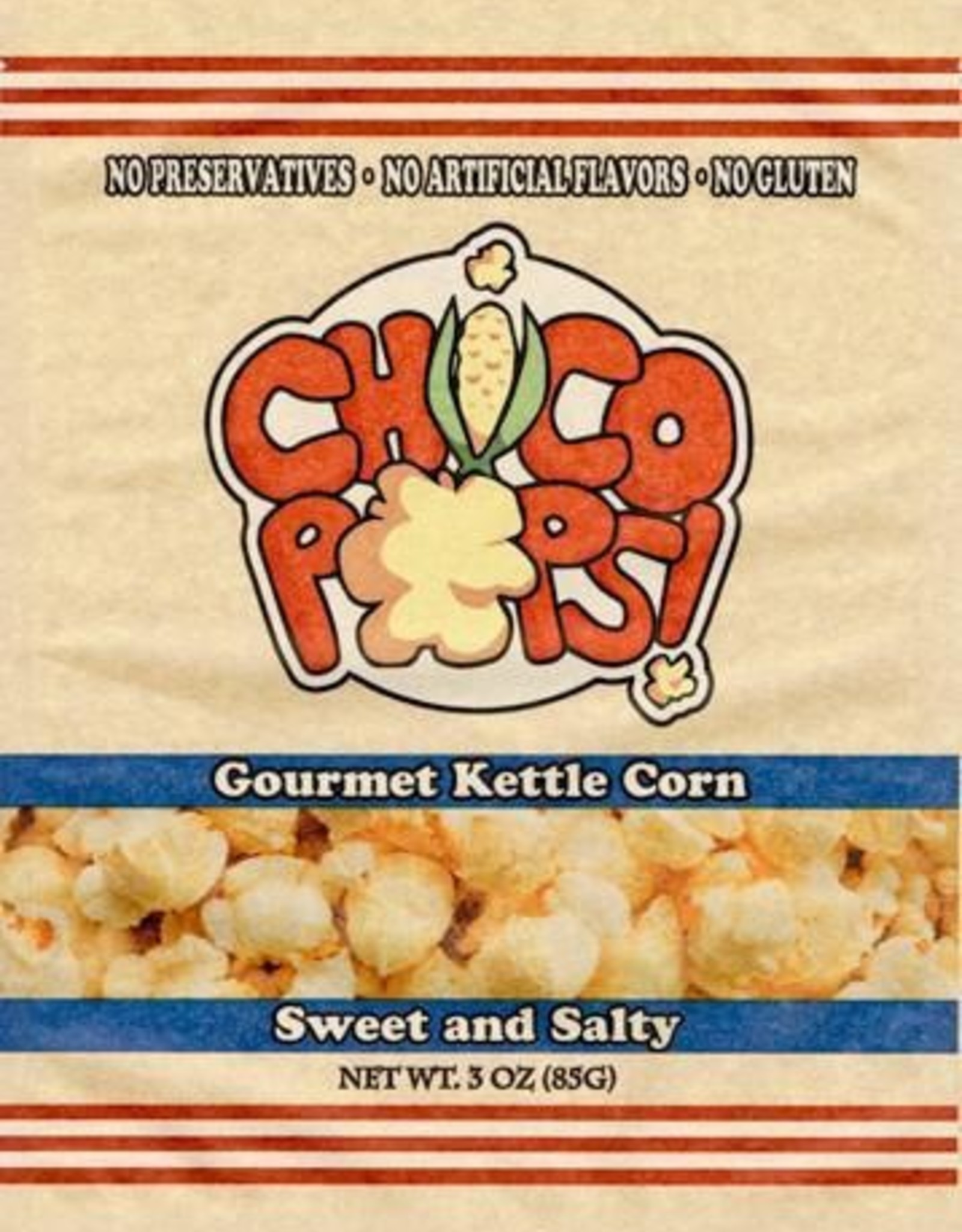 Chico Pops Gourment Kettle Corn Sweet and Saltey