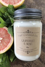 Kelly Johnson P&P Candle Grapefruite & Mint Hand Poured Soy Wax