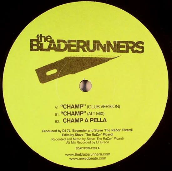 The Bladerunners - Champ - Vinyl, 12""
