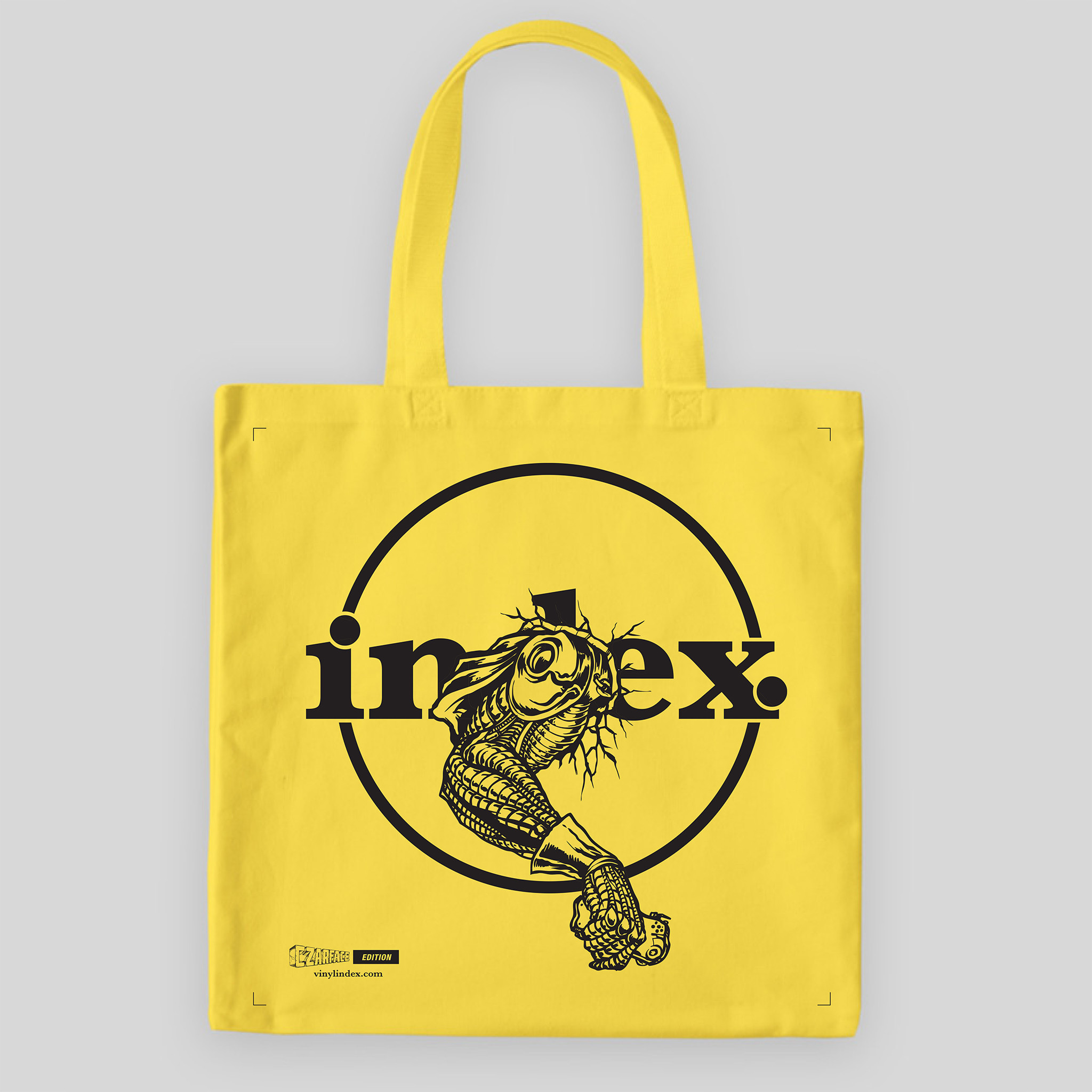 "vinyl index. - 04 (CZARFACE ""Call Me"" Edition) - Tote Bag - Yellow"