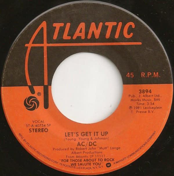 """Atlantic AC/DC - Let's Get It Up - Vinyl, 7"""", 45 RPM, Single - 348735537"""