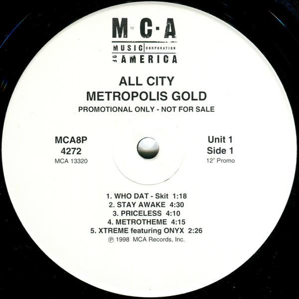 All City - Metropolis Gold - 2xVinyl, LP, Album, Promo - 302747055