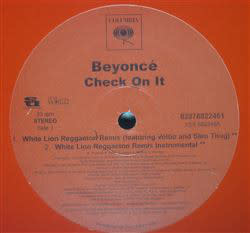 "Beyoncé - Check On It (Reggaeton Remixes) - Vinyl, 12"", 33 ⅓ RPM, Promo - 299642427"