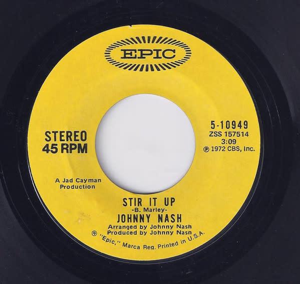 "Johnny Nash - Stir It Up - Vinyl, 7"", 45 RPM, Styrene, Terre Haute Pressing - 304392215"
