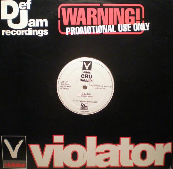 """CRU - Bubblin' / Live At The Tunnel - Vinyl, 12"""", Promo - 372613609"""