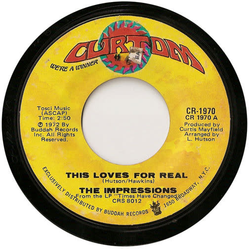 """The Impressions - This Loves For Real - Vinyl, 7"""", 45 RPM, Single - 297066498"""
