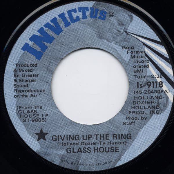 """Glass House - Giving Up The Ring - Vinyl, 7"""", 45 RPM - 309043786"""