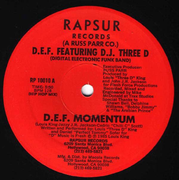 """D.E.F. (4), DJ Three D - D.E.F. Momentum - Vinyl, 12"""", 33 ⅓ RPM - 416435784"""