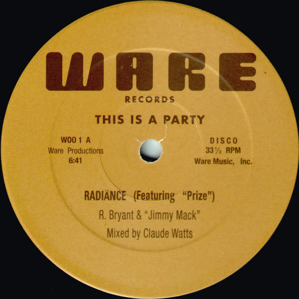 """Radiänce - This Is A Party - Vinyl, 12"""", Reissue, Unofficial Release, 33 ⅓ RPM - 433844356"""