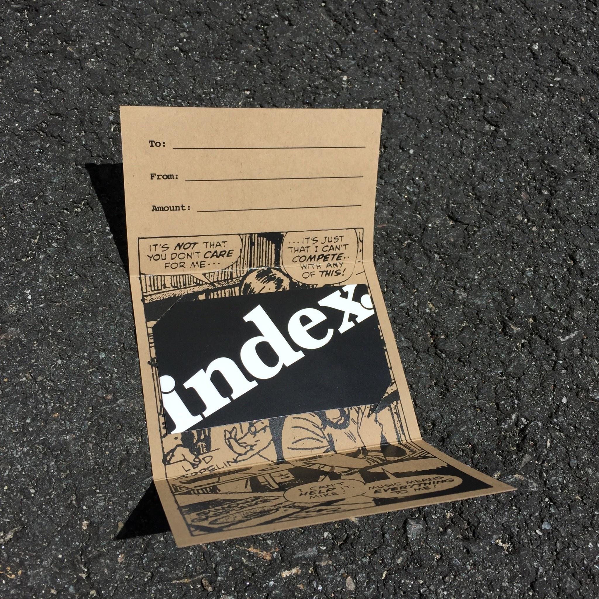 vinyl index. Gift Card (choose amount)