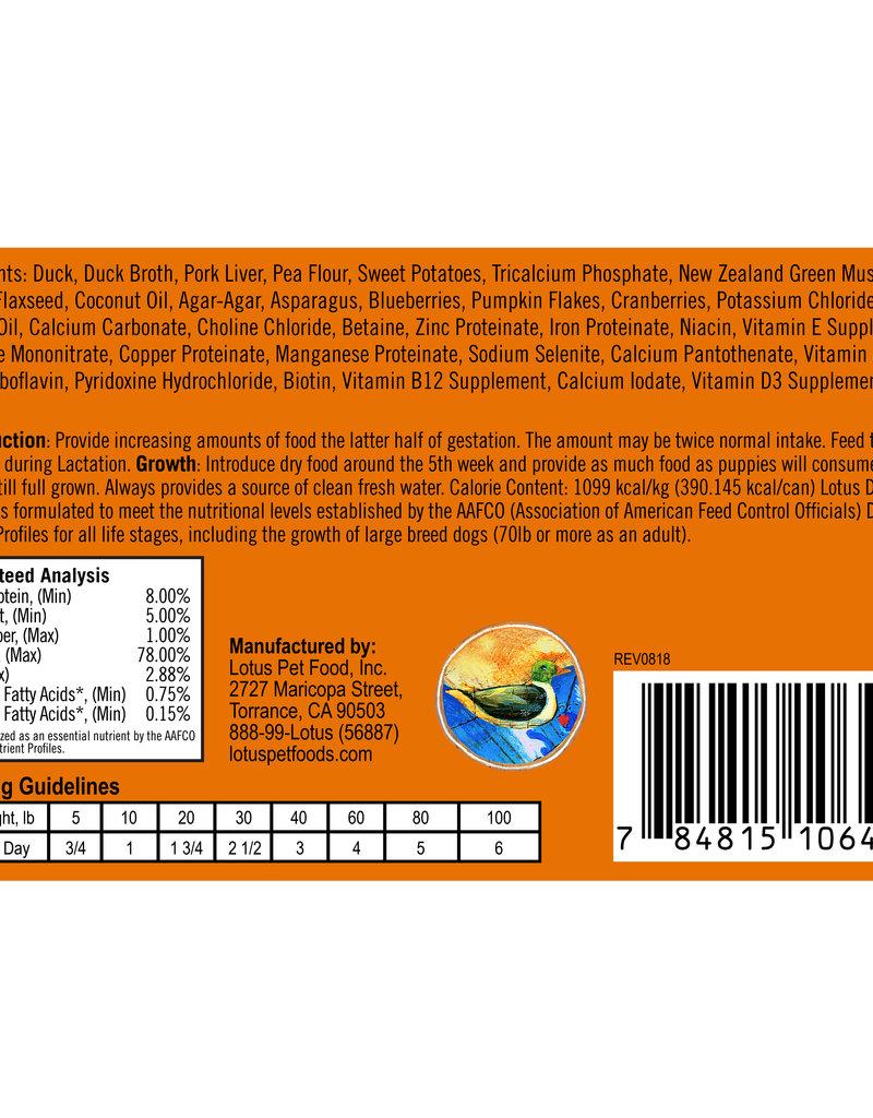 Lotus Lotus Duck Loaf Dog Canned Food 12.5oz