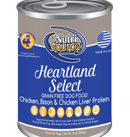 Nutrisource NutriSource Heartland Select Canned Dog Food 13oz