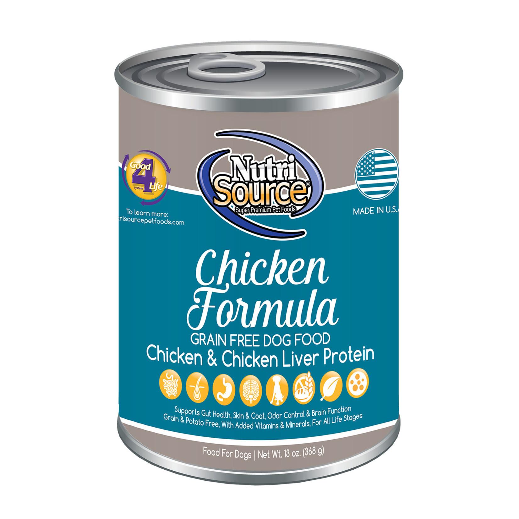 Nutrisource NutriSource Chicken Canned Dog Food 13oz