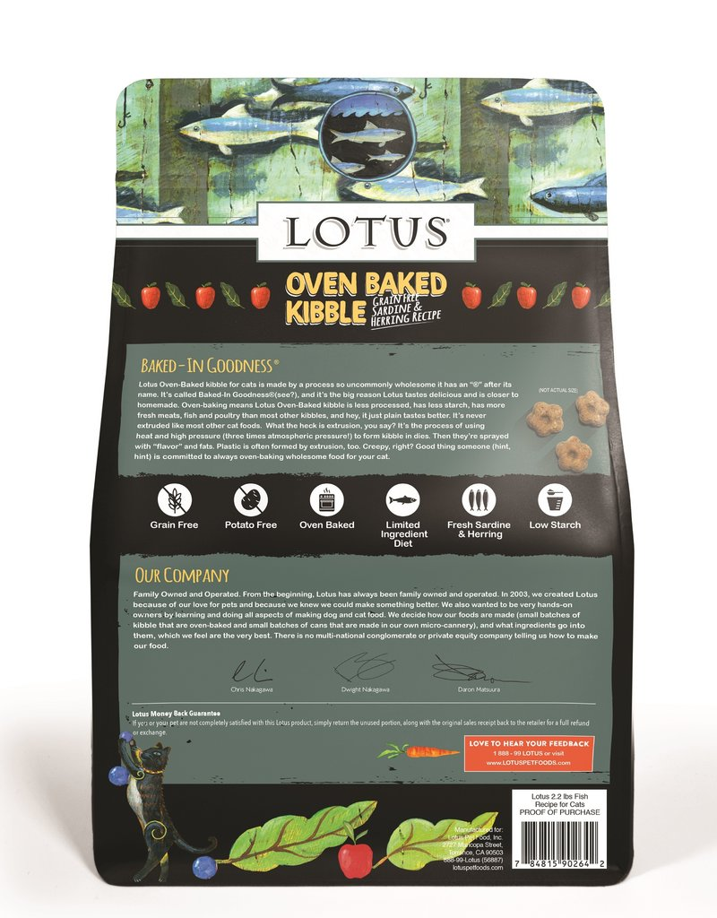 Lotus Lotus Sardine & Herring Cat Food 2.2lb