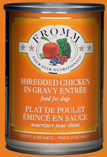 Fromm Family Fromm Shredded Chicken in Gravy Entrée Canned Dog Food 12oz
