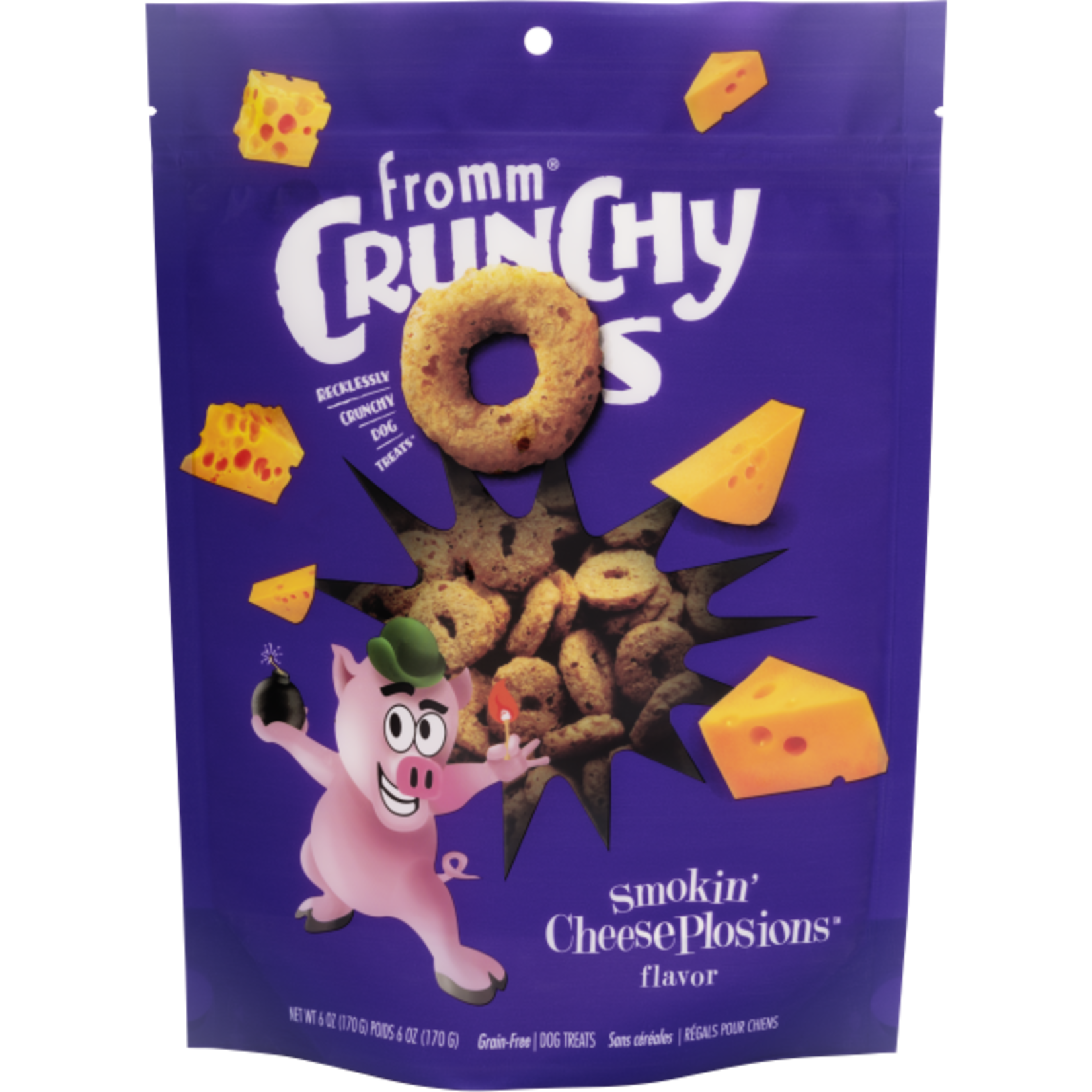 Fromm Family Fromm Crunchy O's Cheeseplosion Dog Treats 6oz