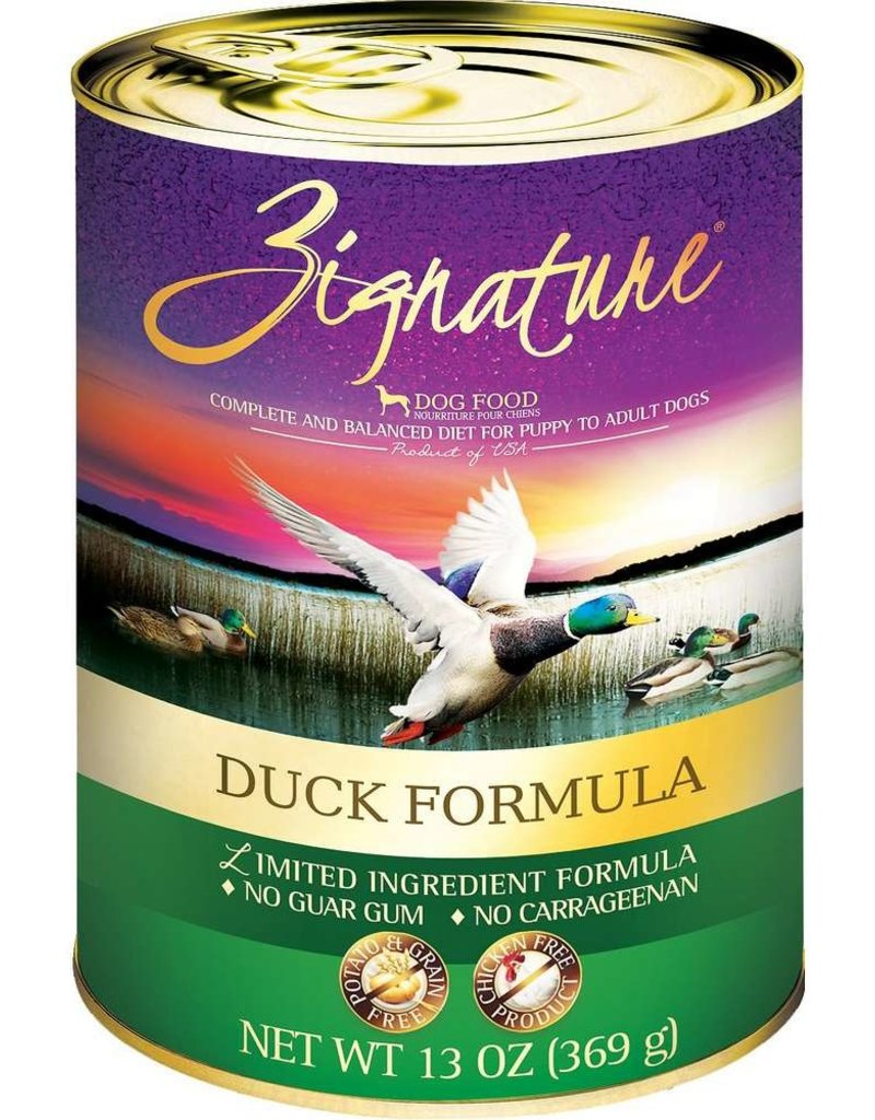 Zignature Zignature Duck Canned Dog Food 13oz
