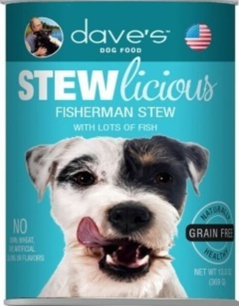 Dave's Pet Food Dave's Stewlicious Fisherman Stew Canned Dog Food 13oz